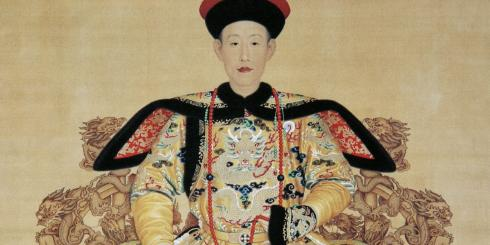 Emperor Qianlong enjoying himself in snowy weather