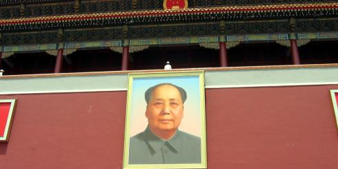 Mao addressing followers