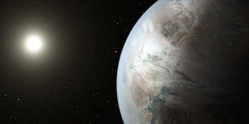 Artist's rendition of a distant planet