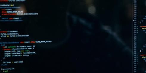 code displayed on computer monitor.