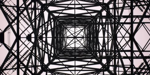 black electrical tower.